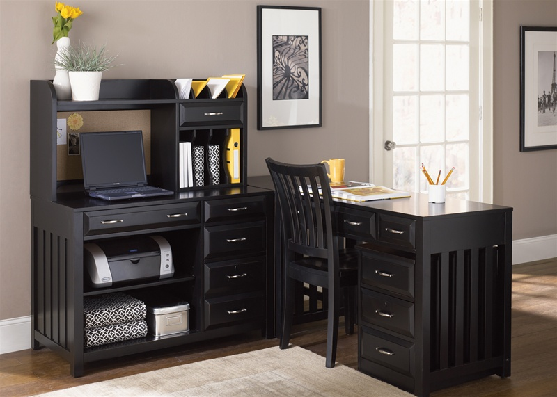 Hampton Bay 5 Pc Home Office Set in Black Finish by Liberty Furniture