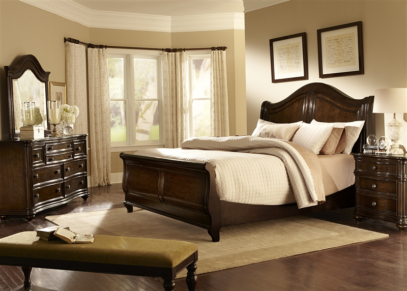 Kingston Plantation Sleigh Bed 6 Piece Bedroom Set In Hand