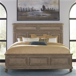 The Laurels Panel Bed in Weathered Stone Finish by Liberty Furniture - 725-BR-QPB