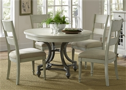 Harbor View Round Table 5 Piece Dining Set in Dove Gray Finish by Liberty Furniture - 731-DR-5ROS