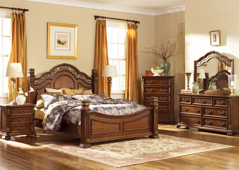 Messina Estates Poster Bed 6 Piece Bedroom Set In Cognac Finish By Liberty Furniture 737 Br