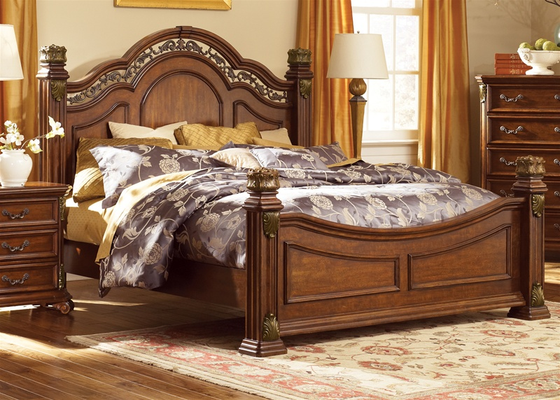 Great Messina Estates Poster Bed 6 Piece Bedroom Set In Cognac Finish By Liberty  Furniture   737 BR