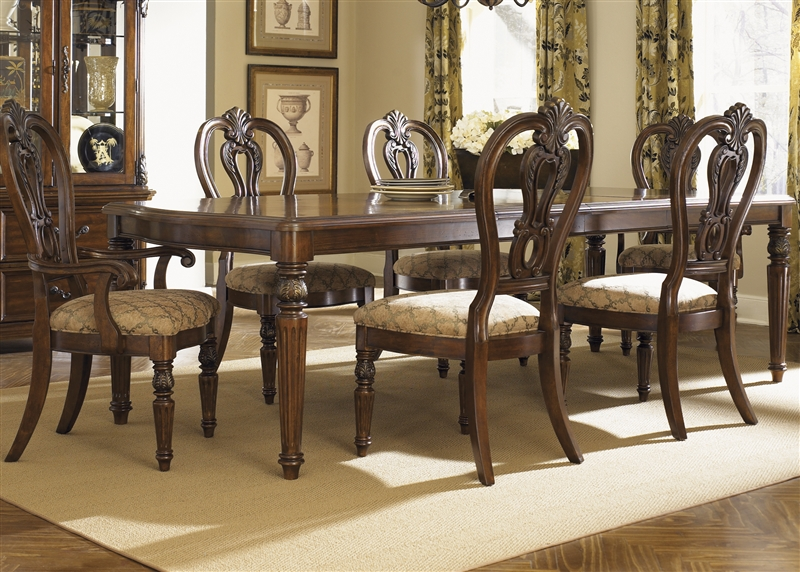 Messina Estates 7 Piece Dining Set in Cognac Finish by Liberty ...