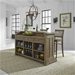 Harvest Home Bar Unit in Barley Brown Finish by Liberty Furniture - LIB-779-BAR7242