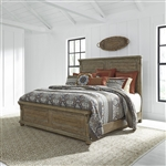 Harvest Home Panel Bed in Barley Brown Finish by Liberty Furniture - 779-BR-QPB