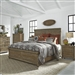 Harvest Home Panel Bed 6 Piece Bedroom Set in Barley Brown Finish by Liberty Furniture - 779-BR-QPBDMN