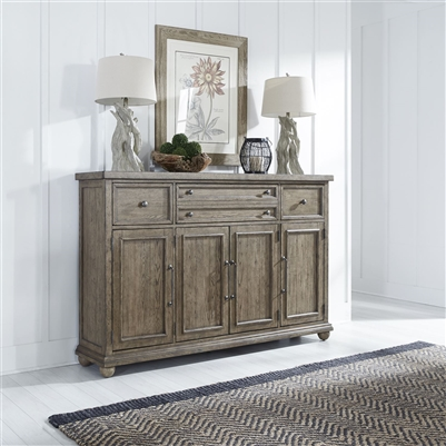 Harvest Home Hall Buffet in Barley Brown Finish by Liberty Furniture - LIB-779-HB7246