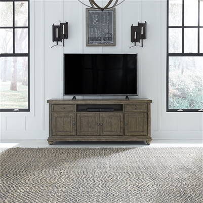 Harvest Home 66 Inch TV Console in Barley Brown Finish by Liberty Furniture - 779-TV66