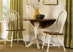 Low Country Windsor Chair 3 Piece Dining Set in Linen Sand with Suntan Bronze Finish by Liberty Furniture - 79-C1000S-3