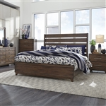 Ventura Blvd Panel Bed in Bronze Spice Finish by Liberty Furniture - 796-BR-QPB