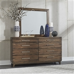 Ventura Blvd 8 Drawer Sideboard in Bronze Spice Finish by Liberty Furniture - 796-BR31