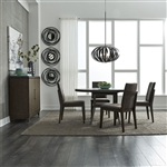 Ventura Blvd 5 Piece Pedestal Dining Table Set in Bronze Spice Finish by Liberty Furniture - 796-DR-5PDS