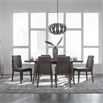 Ventura Blvd 7 Piece Rectangular Dining Table Set in Bronze Spice Finish by Liberty Furniture - 796-DR-7RLS