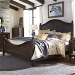 Catawba Hills Poster Bed in Peppercorn Finish by Liberty Furniture - 816-BR-QPS