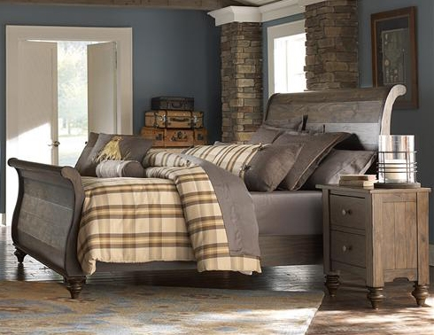 Southern Pines Sleigh Bed In Bark Finish By Liberty Furniture   818 BR21F