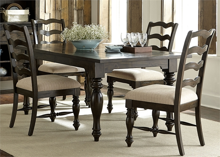 Swell Southern Pines 5 Piece Dining Set In Bark Finish By Liberty Furniture 818 Dr 5Rls Caraccident5 Cool Chair Designs And Ideas Caraccident5Info