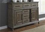 Artisan Prairie Sideboard in Wirebrushed Aged Oak Finish by Liberty Furniture - 823-BR32
