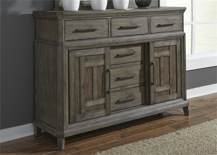 Prairie Sideboard In Wirebrushed Aged Oak Finish By Liberty Furniture 823 Br32