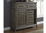 Artisan Prairie Door Chest in Wirebrushed Aged Oak Finish by Liberty Furniture - 823-BR42