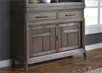 Artisan Prairie Sliding Door Buffet in Wirebrushed Aged Oak Finish by Liberty Furniture - 823-CB5538