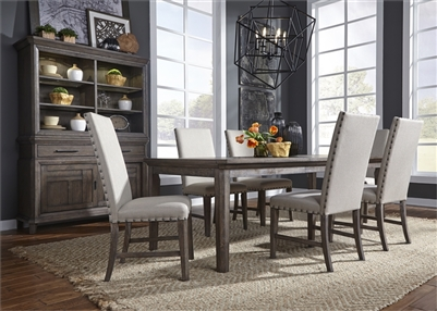 Artisan Prairie Rectangular Leg Table 5 Piece Dining Set in Wirebrushed Aged Oak Finish by Liberty Furniture - 823-DR-5RLS