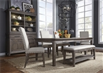 Artisan Prairie Rectangular Leg Table 6 Piece Dining Set in Wirebrushed Aged Oak Finish by Liberty Furniture - 823-DR-6RTS