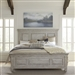 Heartland Tallgrass Panel Bed in Antique White Finish with Tobacco Tops by Liberty Furniture - 824-BR-QPB