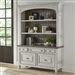 Heartland Credenza and Hutch in Antique White Finish with Tobacco Tops by Liberty Furniture - 824-HO-CHS