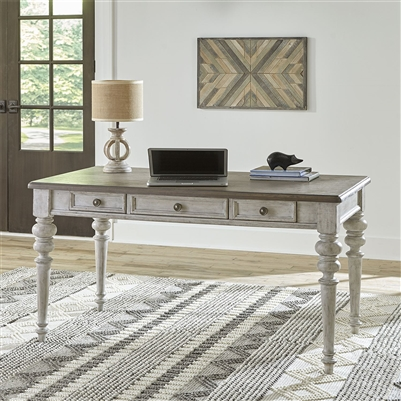 Heartland Writing Desk in Antique White Finish with Tobacco Tops by Liberty Furniture - 824-HO107