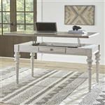 Heartland Lift Top Writing Desk in Antique White Finish with Tobacco Tops by Liberty Furniture - 824-HO109