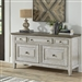 Heartland Credenza in Antique White Finish with Tobacco Tops by Liberty Furniture - 824-HO120