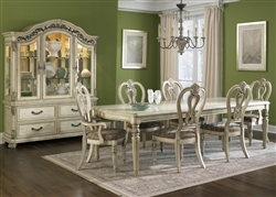 Messina Estates II 7 Piece Dining Set in Antique Ivory Finish by Liberty Furniture - 837-DR