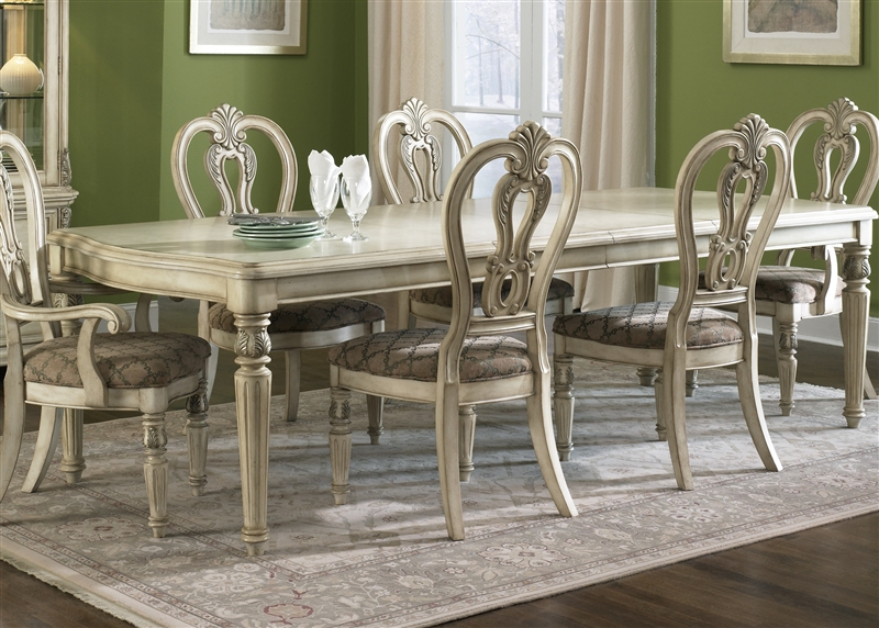 Messina Estates II 7 Piece Dining Set in Antique Ivory Finish by Liberty Furniture - 837-DR & Messina Estates II 7 Piece Dining Set in Antique Ivory Finish by ...