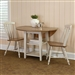 Al Fresco Drop Leaf Leg Table 3 Piece Dining Set in Driftwood & Sand White Finish by Liberty Furniture - 841-CD-O3DLS