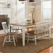 Al Fresco Rectangular Leg Table 6 Piece Dining Set in Driftwood & Sand Finish by Liberty Furniture - 841-CD-6RTS