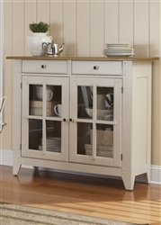 Al Fresco Server in Driftwood & Sand White Finish by Liberty Furniture - 841-SR5043