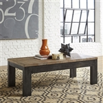 Rutland Grove Rectangular Cocktail Table in Two Tone Charcoal and Desert Finish by Liberty Furniture - 853-OT1011