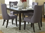 Platinum 5 Piece Dining Set in Satin Espresso Finish by Liberty Furniture - 861-DR-5RLS