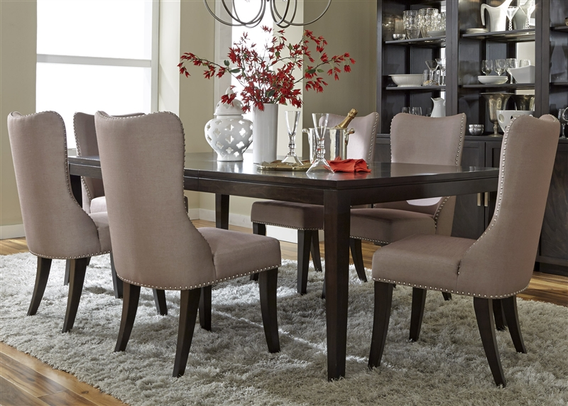 Platinum 7 Piece Dining Set in Satin Espresso Finish by Liberty Furniture -  861-DR-7RLS