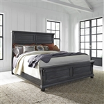 Harvest Home Panel Bed in Chalkboard Finish by Liberty Furniture - 879-BR-QPB