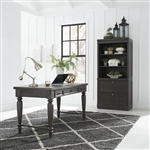 Harvest Home 3 Piece Home Office Set in Chalkboard Finish by Liberty Furniture - 879-HO107-3