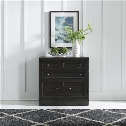 Harvest Home Bunching Lateral File Cabinet in Chalkboard Finish by Liberty Furniture - 879-HO147