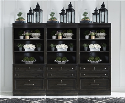 Harvest Home 6 Piece Bookcase Library Wall in Chalkboard Finish by Liberty Furniture - 879-HO147FH-3