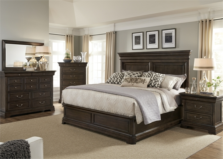 Marvelous Country Estate Panel Bed 6 Piece Bedroom Set In Aged Chateau Brown Finish By Liberty Furniture 881 Br Qpbdmn Download Free Architecture Designs Itiscsunscenecom