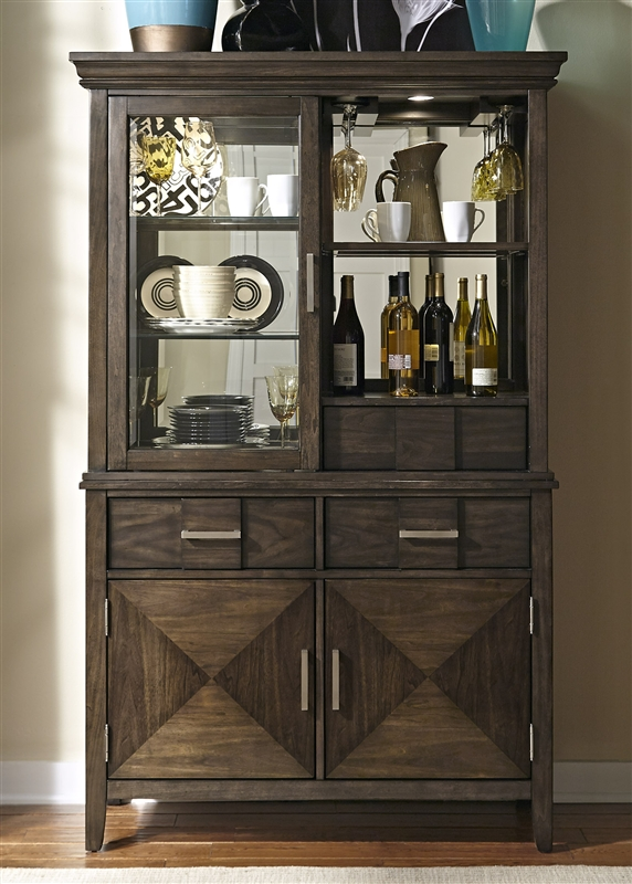 Patterson Buffet And Hutch In Espresso Finish By Liberty Furniture    885 DR HB