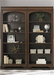 Chateau Valley Bunching Bookcase in Brown Cherry Finish by Liberty Furniture - 901-HO201