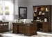 Chateau Valley 5 Piece Executive Home Office Set in Brown Cherry Finish by Liberty Furniture - 901-HOJ-5JES