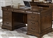 Chateau Valley Jr Executive Desk in Brown Cherry Finish by Liberty Furniture - 901-HOJ-JED