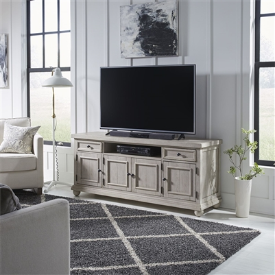 Harvest Home 66 Inch TV Console in Cottonfield White Finish by Liberty Furniture - 979-TV66