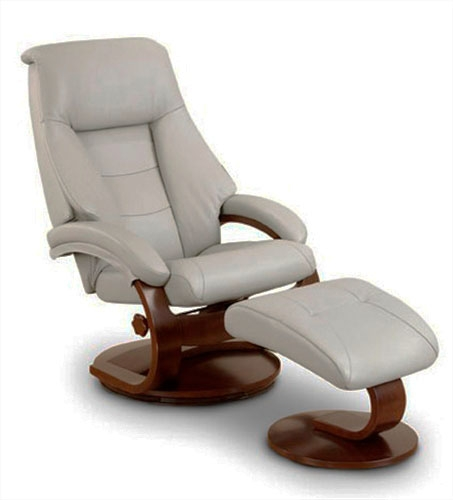oslo mandal 2 piece swivel recliner putty leather alpine finish by mac motion chairs 58p